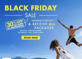 Campanha de Black Friday na Norwegian Cruise Line